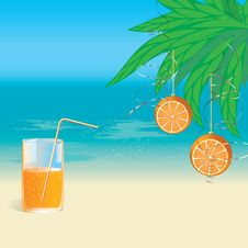 A Glass Of Orange Juice And Oranges Royalty Free Stock Photography