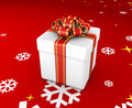 Free Gift Box And Snowflakes  - 3d Render Royalty Free Stock Photo - 17341255