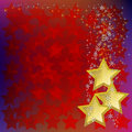 Free Abstract Christmas Background With Gold Stars Royalty Free Stock Photo - 17342705