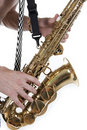 Free Plays A Saxophone Royalty Free Stock Images - 17345869