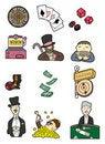 Free Cartoon Casino Icon Stock Image - 17346361