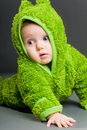Free Baby In A Frog Outfit Stock Photo - 17349430