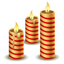 Free Christmas Candles Stock Images - 17340054