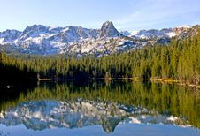 Free Scenic View Of A Mountain And Lake With Reflection Royalty Free Stock Image - 17340056