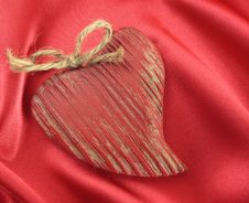 Free Wooden Valentine Heart Royalty Free Stock Photography - 17340207