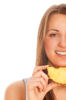 Free Beautiful Woman With Fruit Royalty Free Stock Photography - 17340907