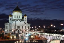Free Cathedral Of Christ The Savior. Royalty Free Stock Photo - 17341095