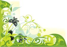 Free Green Decorative Flowers Design Stock Image - 17341611