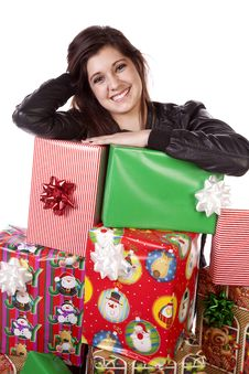 Free Stack Of Gifts Royalty Free Stock Photos - 17342278
