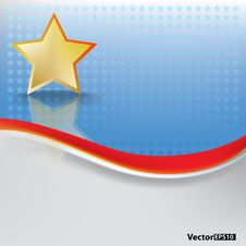 Free Abstract Background With Gold Star Stock Photography - 17342352