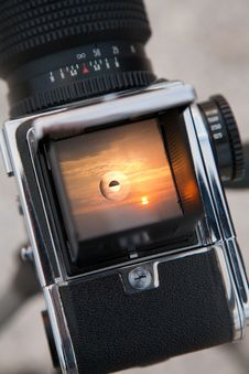 Free Sunrise Through The Viewfinder Royalty Free Stock Photography - 17342357