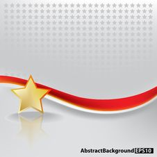 Free Abstract Background With Gold Stars Royalty Free Stock Images - 17342379