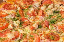 Free Pizza Closeup. Background Stock Photography - 17342442
