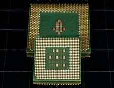 The Old Processor Royalty Free Stock Photo