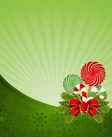 Free Frame With Candy Cane Decorated Stock Photo - 17342620