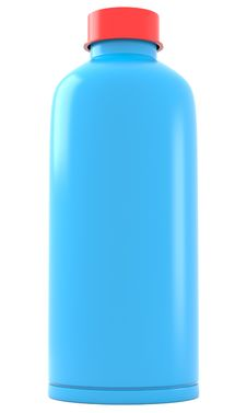Free Blue Plastic Bottle Royalty Free Stock Photography - 17344317