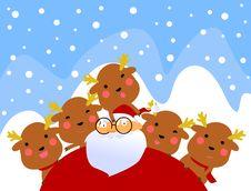 Free Santa And Rudolf Having Fun Stock Images - 17344404