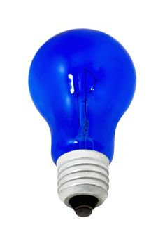 Free Blue Light Bulb, Isolated On White Background Royalty Free Stock Image - 17344626