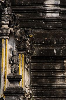 Free Lanna Ancient Wall In Thai Temple Stock Photo - 17344780