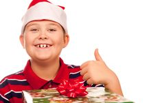 Free Christmas Boy And Present Royalty Free Stock Photography - 17344917