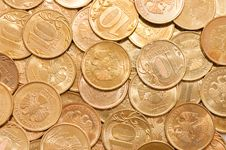 Coins Macro Close Up Background Stock Photography