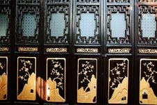 Free Black Chinese Style Door Royalty Free Stock Photos - 17345498