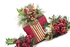 Free Holiday Present With Decorations Royalty Free Stock Photos - 17345708