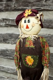 Free Fall Smiling Scarecrow Royalty Free Stock Photography - 17345717
