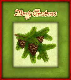 Free Old Christmas Greeting Card Stock Image - 17345861