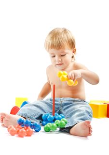 Free Boy With Toys Stock Image - 17346061