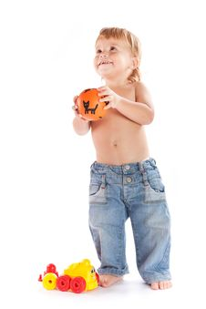 Free Boy With Toys Stock Photos - 17346083