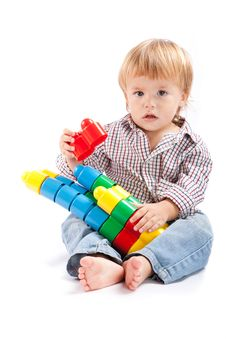 Free Boy With Toys Royalty Free Stock Image - 17346246