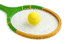 Free Tennis Racket And Ball Stock Photo - 17346330