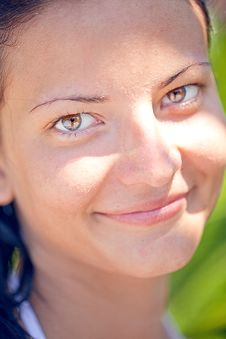 Free Smiling Beautiful Face Royalty Free Stock Photography - 17346727