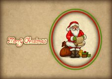 Free Old Christmas Greeting Card Royalty Free Stock Image - 17346846