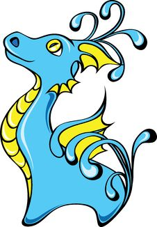 Free Blue Alien Stock Image - 17346881
