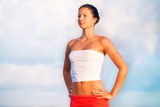Free Beautiful Slender Woman Royalty Free Stock Images - 17347039