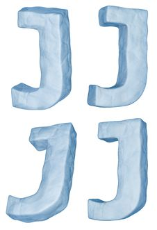 Icy Letter J. Royalty Free Stock Photo