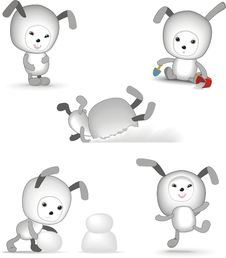 Free Funny Bunny Royalty Free Stock Images - 17349109