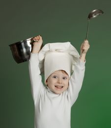 Free The Cheerful Cook Stock Images - 17349174