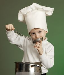 Free The Cheerful Cook Stock Image - 17349191