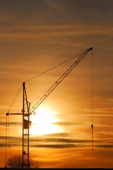 Free Construstion Crane Silhouette Stock Image - 17349321