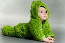 Free Baby In A Frog Outfit Stock Photos - 17349353