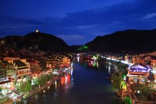 Free Night Of Fenghuang Royalty Free Stock Image - 17349366