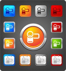 Free Glitz Icons - Camcorder Royalty Free Stock Photos - 17349958