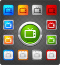 Free Glitz Icons - Old Television Royalty Free Stock Images - 17350249
