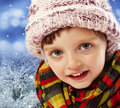 Free Little Girl Four Years Old - Winter Time Stock Photo - 17350800