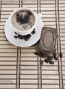 Free Composition Of Coffee Mug With Beans And Cookie Royalty Free Stock Photos - 17351488