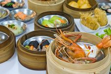 Assorted Dim Sum And Food Stock Photos
