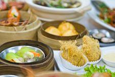 Assorted Dim Sum And Food Royalty Free Stock Photography